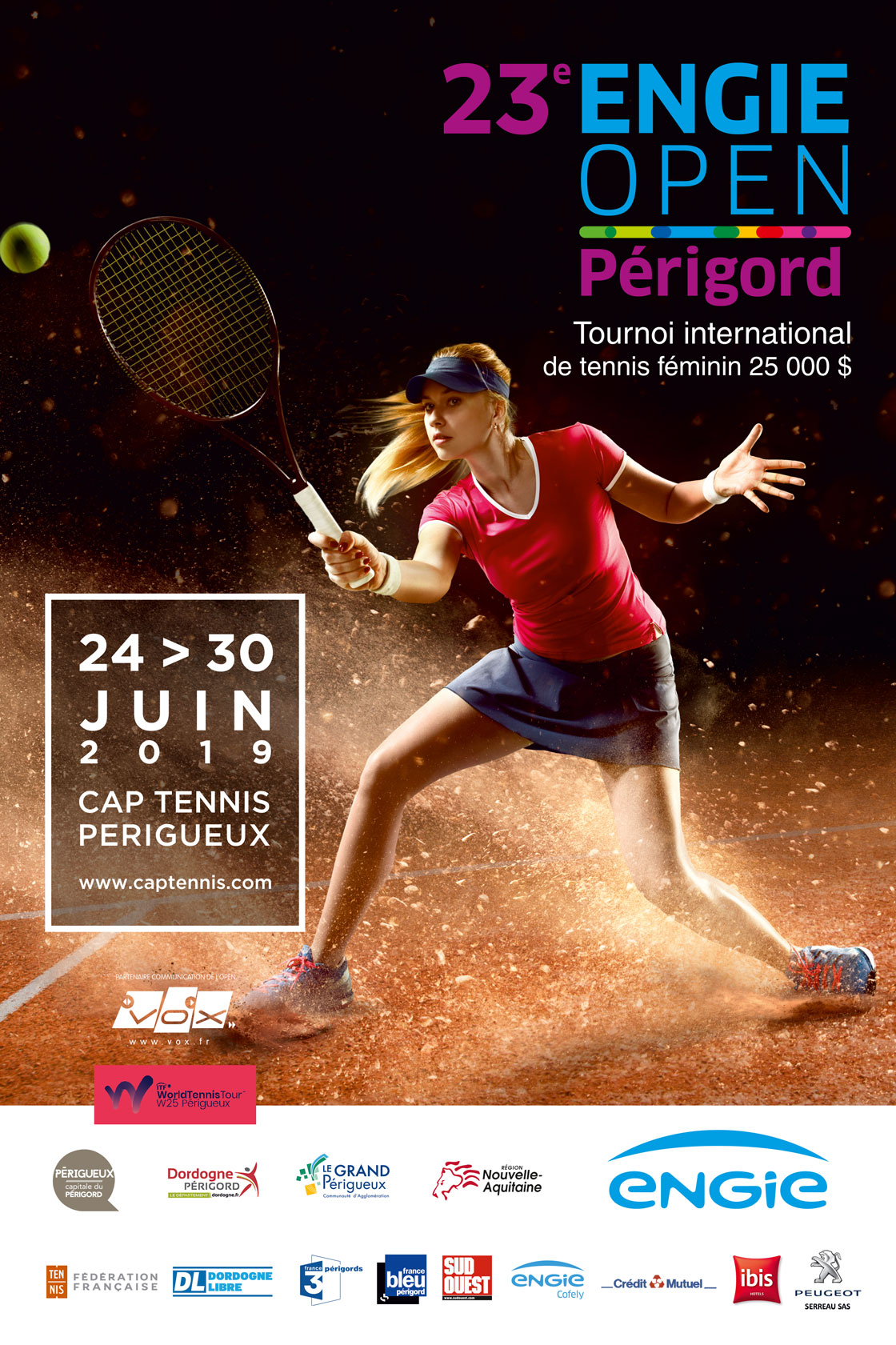 Affiche officielle - 23e Open Engie du Périgord